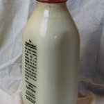 Bottle of raw milk