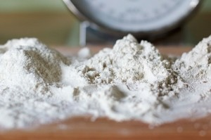 3 types of flour: wheat (Left & center) and rye flour (Right)