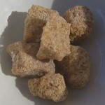 Unrefined sugar cubes