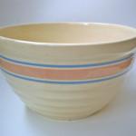 Vintage pottery bread bowl