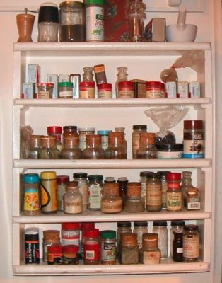 Cat's spice rack