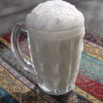 Fresh Ayran, a yogurt beverage