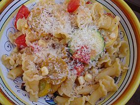 Campanelle (little bells) with Summer Vegetables