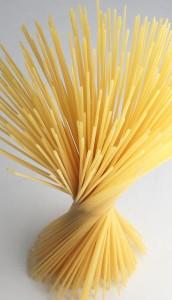 Spiral of dried spaghetti