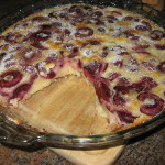 Cherry Clafoutis or Flan