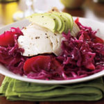 Roasted Cod with Apple and Cabbage